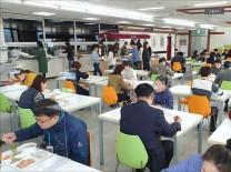 인천부평구, 코로나19 확산방지 위한 구내식당 식탁 칸막이 설치